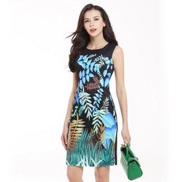 Wholesale Elegant Children Dresses - New Arrivals Women dress Fashion Casual sleeveless Summer dress Elegant Slim Printed party dress Sheath evening vestidos