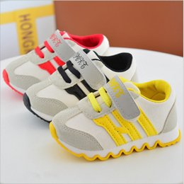 Wholesale Baby Boys Bottoms - China wholesale 2017 spring new fashion striped baby toddler sports sneakers shoes for chlidren kids boys and girl skidproof rubber bottom