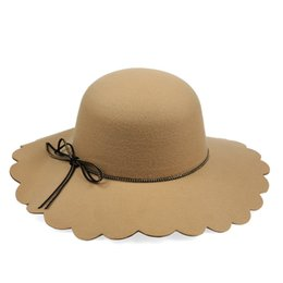 Wholesale Women S Sun Hats Wholesale - The new women 's hat Korean autumn and winter wool hat hat imitation fashion outdoors rope rope basin cap big along the hat