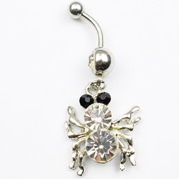 Wholesale Spiders Rings Jewelry - clear color 0041 Nice belly ring nice spider style belly ring with piercing body jewlery navel belly ring body jewelry