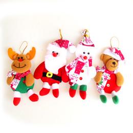 Wholesale Santa Bear - Santa Claus Snowman Bear Elk 4 Styles Exclusive Super Cute Christmas Decoration Tree Decorations Festival Toy 0708051