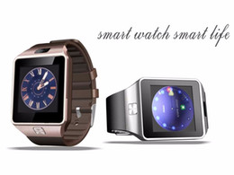 Wholesale camera language - 2018 New Smart Watch dz09 With Camera Bluetooth WristWatch SIM Card Smartwatch For Ios Android Phones Support Multi languages