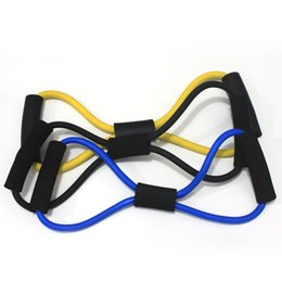 Wholesale Type Band Yoga - New Arrive Resistance Training Bands Tube Workout Exercise for Yoga 8 Type Fashion Body Building Fitness Equipment Tool