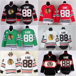 Wholesale Sports Jerseys Winter - Chicago Blackhawks 88 Patrick Kane Jerseys Sport Ice Hockey Throwback 2017 Winter Classic Home Red White Green Black