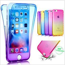 2019 étui transparent pour iphone 360 degrés complet du corps cas avant dos dégradé coloré étui transparent pour iphone pas cher
