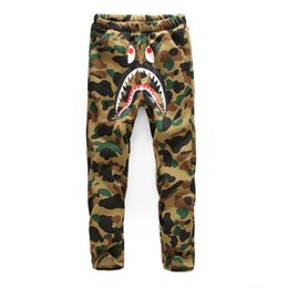 Wholesale Men s casual pants men camouflage thick shark Guardian men and women pants and cashmere trousers wy