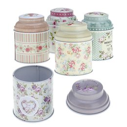 Wholesale Tea Gift Tins Wholesale - Europe Type Style Tea Caddy Receive Box Candy Storage Box Wedding Favor Tin Box Cable Organizer Container Christmas Party Gifts 6pcs lot