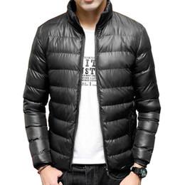 Wholesale Parka Style Waterproof Jacket - Wholesale- 2016 New Style Winter Down Jacket Ultra light Men Coat Waterproof Down Parkas Fashion Mens Outerwear Coat Size M-4XL