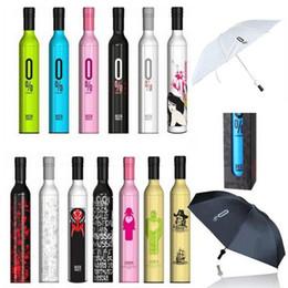 botella doblada Rebajas Botella de vino Sombrilla de viaje Moda Botella de vino Plegable Sombrilla de sol Sombrilla a prueba de viento Paraguas 41 diseño
