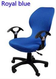 Royal Blue Farbe Lycra Computer Stuhlabdeckung passen für Bürostuhl mit Armlehne Spandexstuhlabdeckung Dekoration Großhandel von Fabrikanten