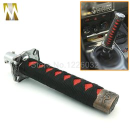 Canada JDM universel 150MM court Samurai bouton de changement d'épée Shifter métal Katana bouton de changement de poids pondéré avec 4 adaptateur noir + rouge Offre
