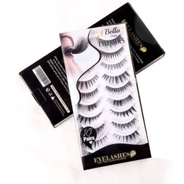 Wholesale Natural Look Eyelashes - Bella Hair 10 Different Styles Quality Fiber Hand-made Natural Looking Thick Soft False Eyelashes 10 Pairs