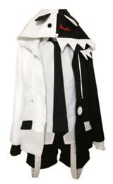 Wholesale Complete Black Suit - Malidaike Anime Monokuma Bear Danganronpa Cosplay Costume Hoodie Sets Black White Halloween Complete Suit Unisex Size