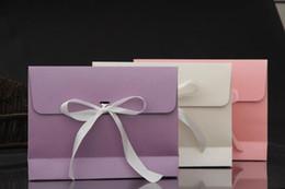 Wholesale Large Craft Bags - 100pcs 28*9*21cm Large Ribbon Kraft Paper Envelope Bag Handkerchief Silk Scarf Packing Boxes Gift Wrap Bag Free Shipping