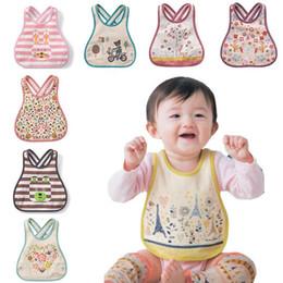 Wholesale Embroidered Burp Cloths - Wholesale- Cotton Baby Bandana bibs Infant embroidered saliva towels Burp Waterproof Lunch Bibs Infants Cartoon Bibs Burp Cloths M15