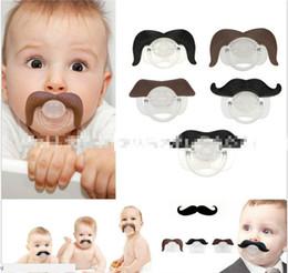 labios de silicona divertidos Rebajas 8 estilos bebé chupete de silicona chupete novedad divertido bigote bebé infantil ortodoncia simulada barba pezones JC101