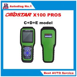 herramientas de diagnóstico mitsubishi abs Rebajas 2016 OBDSTAR X100 PROS C + D + E modelo Programador clave con EEprom Adapter + IMMOBILIZER + Ajuste del odómetro Reemplace X-100 Pro