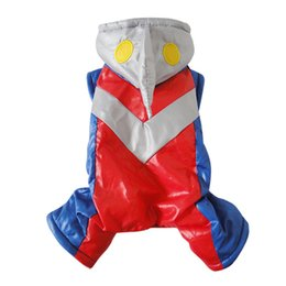 Wholesale Cheap Winter Coats Sale - NEW CHEAP SALE 2017 Pet Clothes for Dogs Winter Warm Clothes Pet Ultraman Dog Winter Overall Snow Clothes Winter Jumpsuit for Dogs CAP011