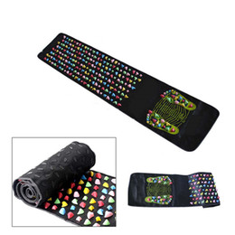 Wholesale Mat Walk - Massage Stones Cushion Plastic Walk Stone Pad Square Healthy Foot Care Massager Mat Acupoint Massage Yoga Mat 175*35cm Relaxing 0602052