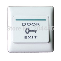 Wholesale Exit Push Button Switch - Wholesale- Door Exit Push Button Switch door for Access Control System, freeshipping Dropshipping