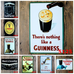 Wholesale Wholesale Metal Paintings - Black Beer My Guinness Vintage Tin Signs Retro Metal Sign Antique Imitation Iron Plate Painting Decor Wall Of Bar Cafe Pub Shop Restaurant