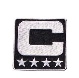 Wholesale Iron Patches Baseball - Wholesale- 2017 Captain C Patch Iron or Sewing On for Jersey Football, Baseball. Soccer, Hockey, Lacrosse, Basketball