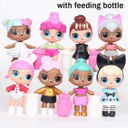 Wholesale Magic Goods - 8pcs set LOL Surprise Doll with Feeding Bottle Series 2 Girl Baby Sisters Friends Mini Doll Fun Magic Surpresa Toy For Girl Z11
