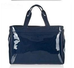 A geléia totes a bolsa das mulheres on-line-2019 Verão Quente PVC Pérola Flap Bolsa de Ombro Médio das Mulheres Cadeia de Pérolas Bolsa AJ couro Patente sacos de Geléia