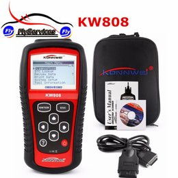 Wholesale European Auto Scanner - Wholesale- KONNWEI KW808 OBD2 Scanner Car Diagnostic Code Reader CAN Engine Reset Tool KW 808 Auto Scanner Coverage(US Asian & European)