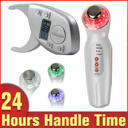 Wholesale Caliper Fat Digital - Anti-aging Ultrasonic LED Light Photon Beauty SPA Skin Care Machine + Digital Body Fat Caliper Skin Fold Thickness Quick Measurement