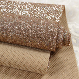 Wholesale Pink Glitter Wallpaper - Wholesale-( Width 1.38meter , Length 48 meter ) First Class Glitter wallpaper For Home Decor High quality sparkly Wall cloth