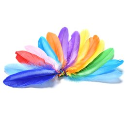 Wholesale Colorful Rooster - Wholesale- 20Pcs Lot Colorful Rooster Saddle Cape Craft Pheasant Feathers Home Decoration Art Craft Making Pretty Feather DIY Toy