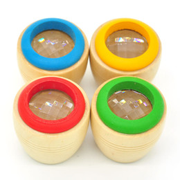 Wholesale Plastic Eyes For Toys - Bee Eye Interesting Effect Magic Wooden Kaleidoscope Toys For Children Preschool Educational Toy Multi Color 2 85bz C