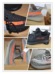 Wholesale Gift Boxes Lace - 2017 (with box)7 colors size 5-13 kanye west shoes SPLY 350 boost 350 v2 Beluga Glow In The Dark copper red Running Shoes with Gift