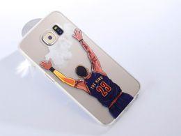 Argentina Famoso jugador de baloncesto de dibujos animados estrella del teléfono celular de la caja de silicona de silicona suave TPU caso de la contraportada transparente para Samsung Galaxy S4 Note3 cheap galaxy note3 cases covers Suministro