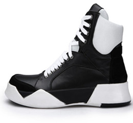 Модные сапоги онлайн-Мода натуральная кожа мужчины сапоги хип-хоп загрузки завод мужчины работают ботинки безопасности случайные