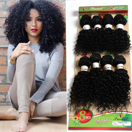 Wholesale Brazilian Jerry Curl Hair Weave - WEAVES CLOSURES 8pcs loose wave Brazilian hair extension,mongolian curly human braiding hair crochet braids jerry curl hair for marley