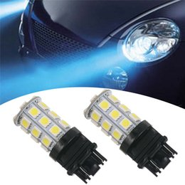 Wholesale Led 3157 Turn - 100X 3156 3157 13SMD 18SMD 27SMD 5050 Reverse Brake Turn Tail Back Up LED Light Bulb White Double Wire