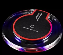 Wholesale Qi Wireless Power - Qi Wireless Charger Pad Power Fast Charging for Samsung Galaxy S6 S6 Edge S7 S7 Edge iPhone 7 7Plus with Retail Box DHL free