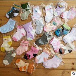 Wholesale Newborn Animal Socks - Newborn Baby Socks Lovely Indoor Prewalker Breathable Cotton Socks Infant Toddler Cartoon Non Slip Sock Kids Socks 0-1T DHL Free Shipping