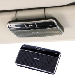 Wholesale Iphone Sun Visor - Bluetooth Handsfree Car Kit Speakerphone Sun visor Clip 10m Distance For iPhone with Car Charger