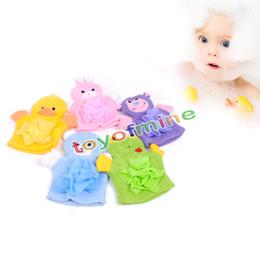 panno di lavaggio del bambino all'ingrosso Sconti All'ingrosso-Cute Bambini Baby shower bagno telo da bagno Animali Style Shower Wash Cloth Towels Bath Guanti Cartoon bambini guanti da bagno