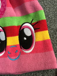 Wholesale Cartoon Character Kids Crocheted Hats - girl cartoon pony hats winter warm accessories cotton gloves knitted scarf crochet caps warm Finger gloves three-piece for winter kids girl