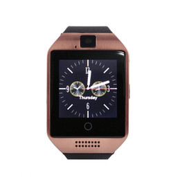 Wholesale Wholesale Connections - Q18 Smart Watch Bluetooth Smart watches For Android Phone with Camera Q18 Support TF Card Connection with Retail Package free DHL