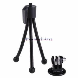 Monopé ajustável on-line-Mini portátil ajustável flexível Monte Bracke Levante Monopod tripé Suporte para Digtal Camera para iPhone Samsung Universal