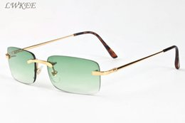 Wholesale Smooth Drive - 2018 smooth brand designer buffalo horn sunglasses for men women vintage green pink clear lens multiple rimless sunglasses with box