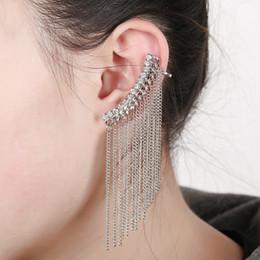 Wholesale Clip Post Earrings - Post promotional tassel ear clip earrings Crystal Earrings