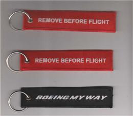 Boeing My Way Broderie Porte-clés Aviation Bagages Moto Pilote Équipage Sac Étiquette 13 x 2.8cm 100pcs / lot ? partir de fabricateur