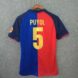 Wholesale Custom Soccer Shirts - Classic soccer jerseys retro 1899-1999 centennial shirts custom name number PUYOL 5 football shirts top quality soccer clothing