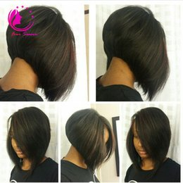 Wholesale Wigs Bob Cut - 2017 New Short Bob Cut Wigs Brazilian Virgin Human Hair Full Lace Wigs Unprocessed Glueless Full Lace Wigs For Black Women Free Shipping